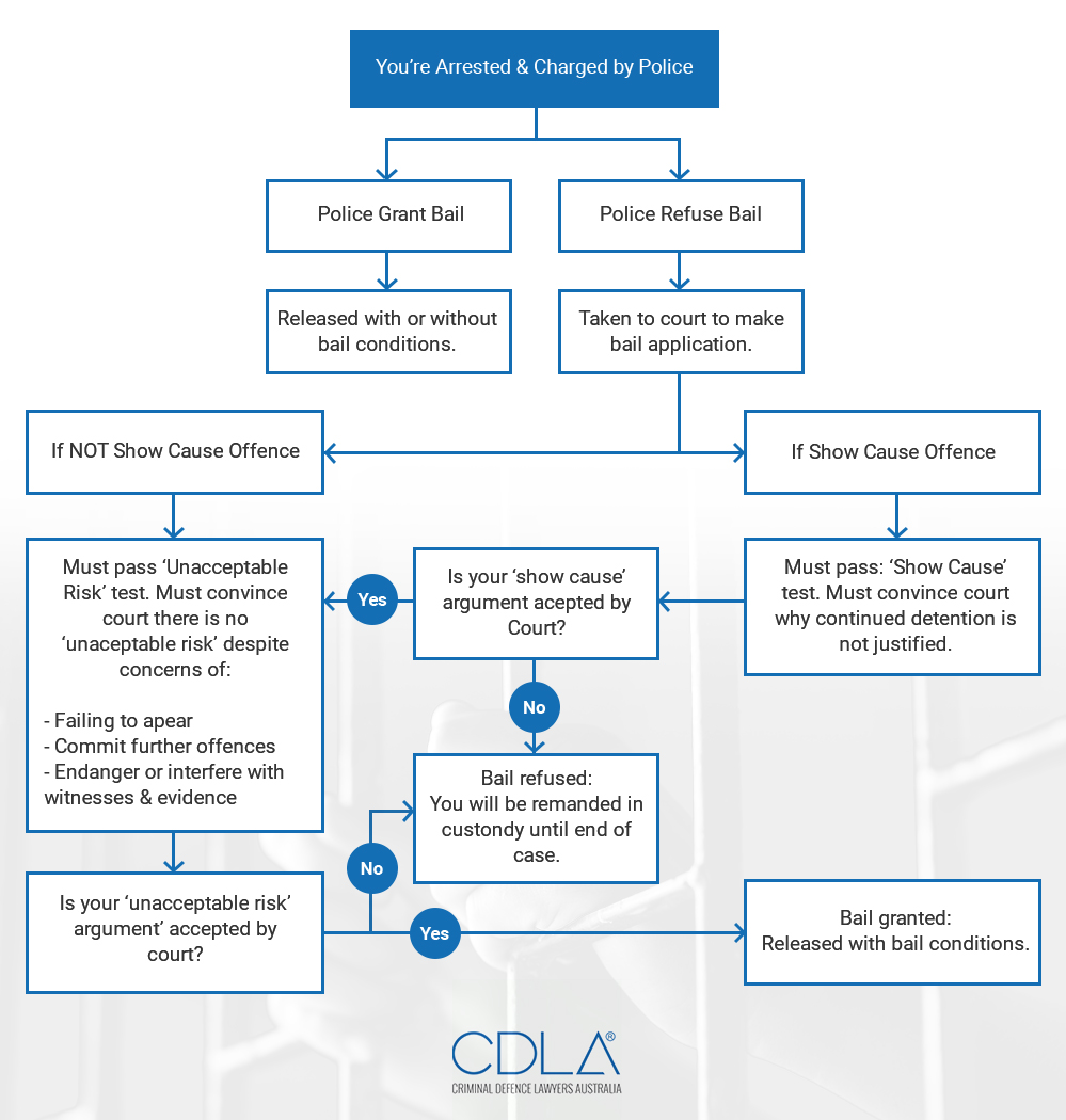 Bail Process Flow Chart Diagram - Grounds For Rejection Of Bail Application
